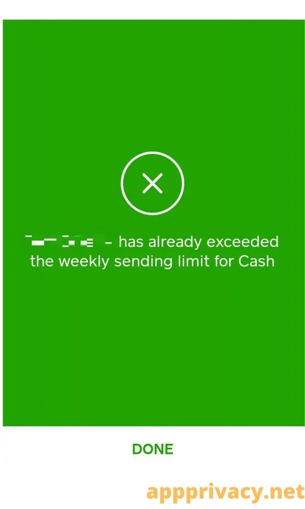 cash app weekly reset limit